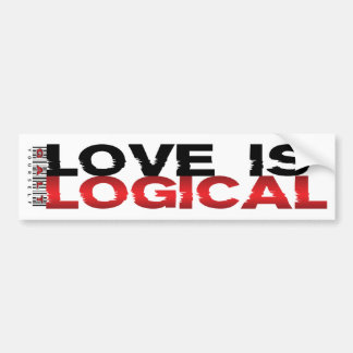 Liebe ist logisch autoaufkleber