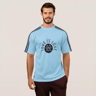 Liebe ist Logo des Liebe-Typografie-Gay Pride-LGBT T-Shirt