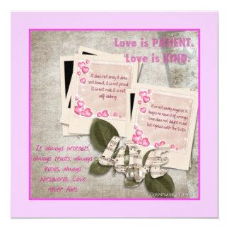 Liebe ist nette quadratische Karte Ankündigung