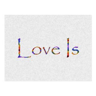 Liebe ist Regenbogen Postkarten