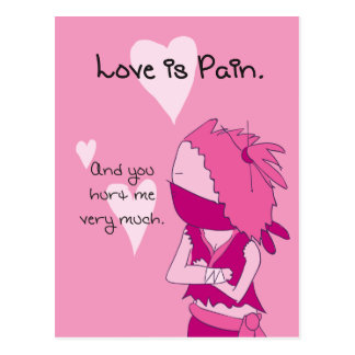 Liebe ist Schmerz - Keiko Valentine Postkarte