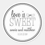 Liebe ist süße Aufkleber (Schwarzes/Grau)