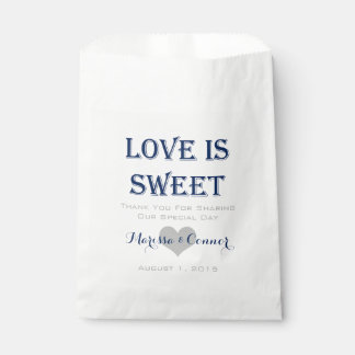 Liebe ist süße Marine und graue Hochzeits-Taschen Geschenktütchen