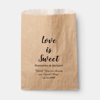 Liebe ist süße Süßigkeits-Hochzeit danken Ihnen Geschenktütchen
