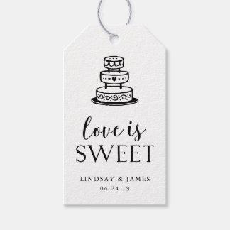 Liebe ist süßer | Hochzeits-Kuchen Geschenkanhänger