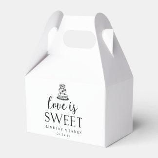Liebe ist süßer | Hochzeits-Kuchen Geschenkkarton