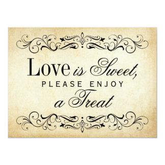 Liebe ist süßes Zeichen Vintages | blühen 16,5 X 22,2 Cm Einladungskarte