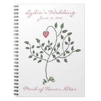 Liebe ist tief verwurzeltes Trauzeugin-Notizbuch Spiralblock