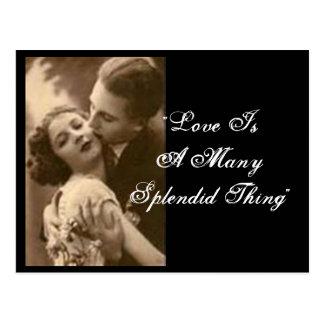 """""""Liebe ist vielen herrliche Sache-"""" Postkarte"""