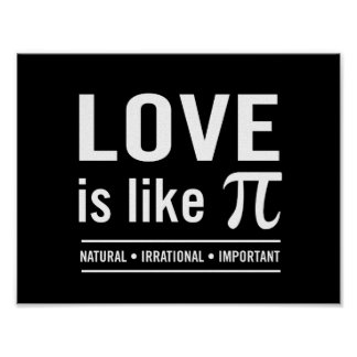 Liebe ist wie PU Poster