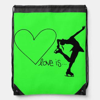 Liebe ist Zahl Skaten, Herz, der Rucksack, LIMON Sportbeutel