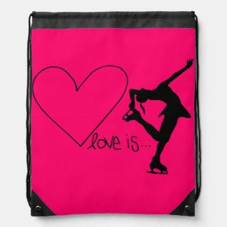 Liebe ist Zahl Skaten, Herz, der Rucksack, Sportbeutel