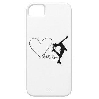 Liebe ist Zahl Skaten Mädchen-Skater u Herz iPhone 5 Case