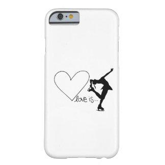 Liebe ist Zahl Skaten, Mädchen-Skater u. Herz Barely There iPhone 6 Hülle