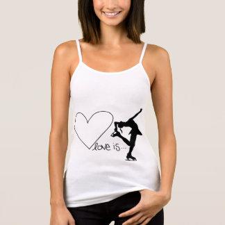 Liebe ist Zahl Skaten, Mädchen-Skater u. Herz Tank Top