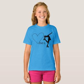 Liebe ist Zahl Skaten, mit Herzen - BLAUER T - T-Shirt