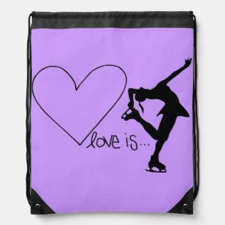 Liebe ist Zahl Skaten, mit Herzen, Rucksack Sportbeutel