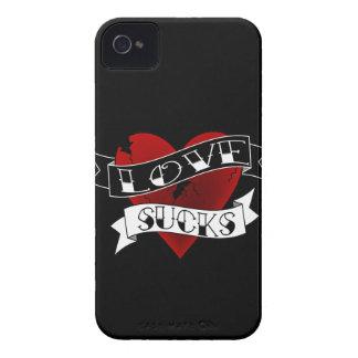 Liebe-ist zum Kotzen Tätowierung iPhone 4 Case-Mate Hüllen