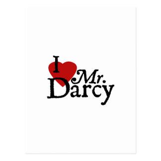 LIEBE Janes Austen I Herr Darcy Postkarte