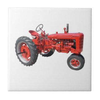 Liebe jene alten roten Traktoren Fliese