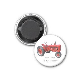 Liebe jene alten roten Traktoren Kühlschrankmagnete