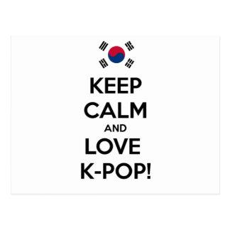 Liebe K-Pop! Postkarte