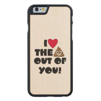 Liebe kacken Emoji Carved® iPhone 6 Hülle Ahorn