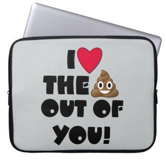 Liebe kacken Emoji Laptopschutzhülle