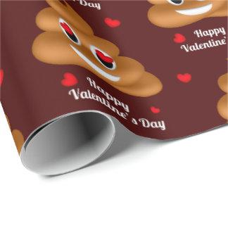 Liebe kacken Verpackungspapier emoji Valentines Geschenkpapier