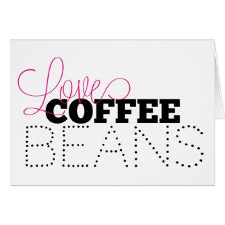 Liebe-Kaffeebohne-Gruß-Karte, leer Karte