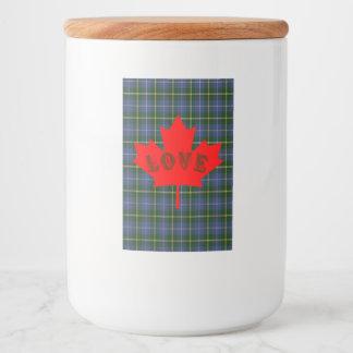 Liebe Kanada Neuschottland kundenspezifische Lebensmitteletikett