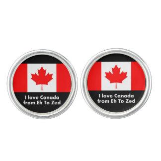 Liebe Kanada von wie zum Zed Manschetten Knöpfe