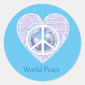 Liebe kann Weltfrieden II holen Runder Aufkleber