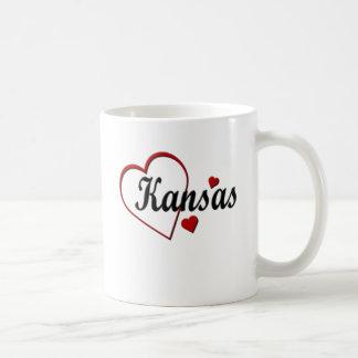 Liebe-Kansas-Herz-Tassen Tasse