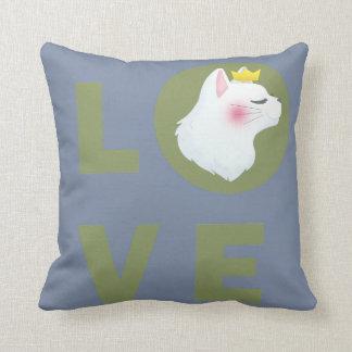 Liebe-Katze Kissen