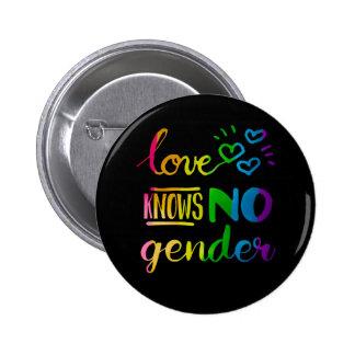 Liebe kennt kein Geschlecht LGBT Runder Button 5,1 Cm