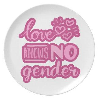 Liebe kennt kein Geschlecht Melaminteller