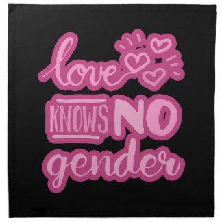 Liebe kennt kein Geschlecht Stoffserviette