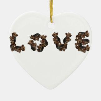 Liebe Keramik Ornament