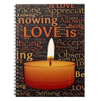 Liebe, Kerzenzitat Notizblock