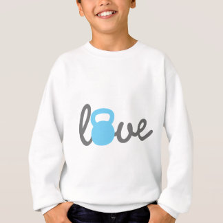 Liebe Kettlebell Blau Sweatshirt