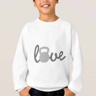 Liebe Kettlebell Grau Sweatshirt