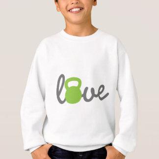 Liebe Kettlebell Grün Sweatshirt