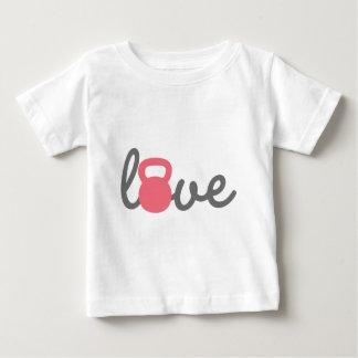 Liebe Kettlebell Rosa Baby T-shirt