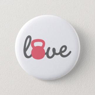 Liebe Kettlebell Rosa Runder Button 5,1 Cm