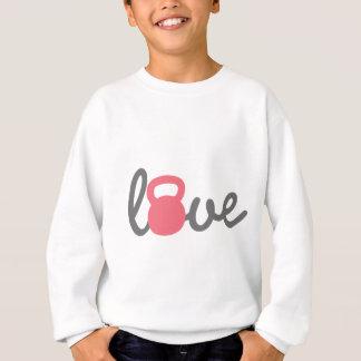 Liebe Kettlebell Rosa Sweatshirt