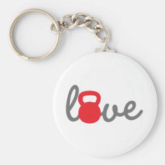 Liebe Kettlebell Rot Schlüsselanhänger