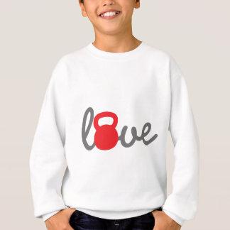 Liebe Kettlebell Rot Sweatshirt