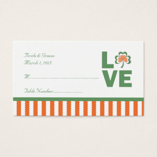 Liebe-Kleeblatt-Hochzeits-Platzkarte Visitenkarte