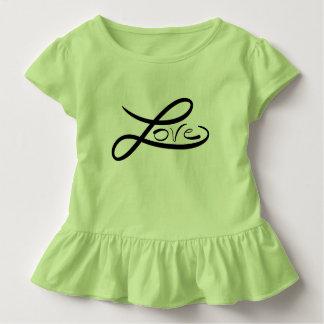 Liebe-Kleinkind-Rüsche-T-Shirt Kleinkind T-shirt